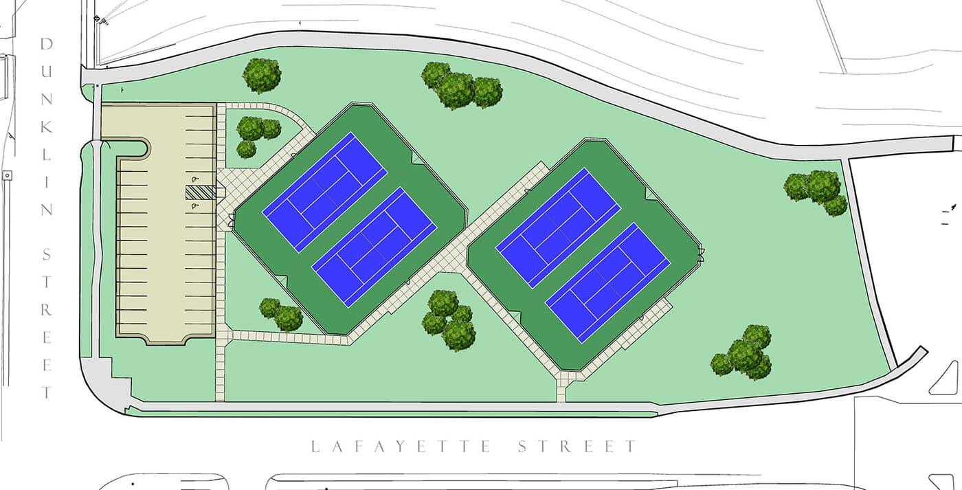 LU Tennis Courts